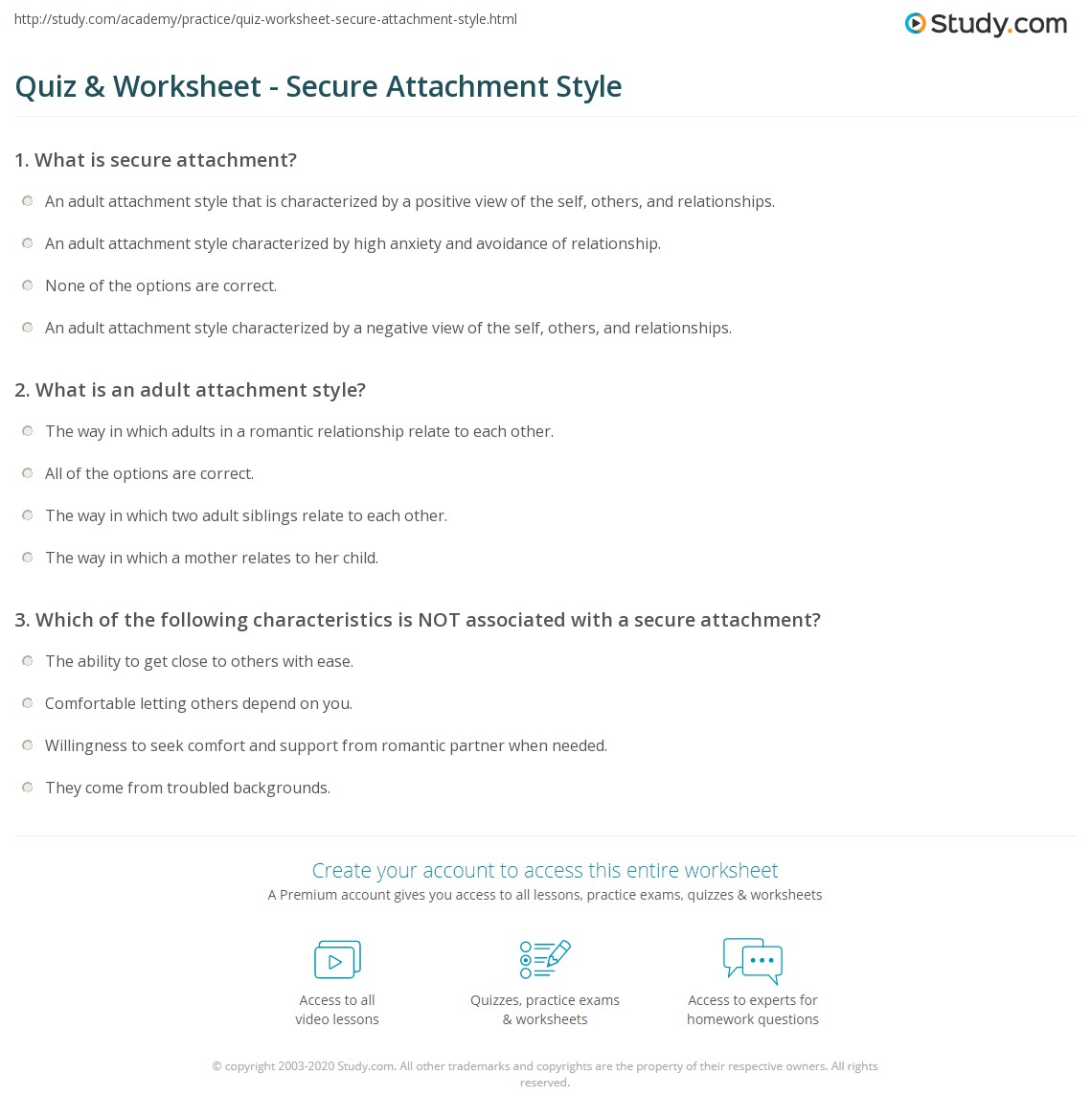 What Is Your Attachment Style Quiz