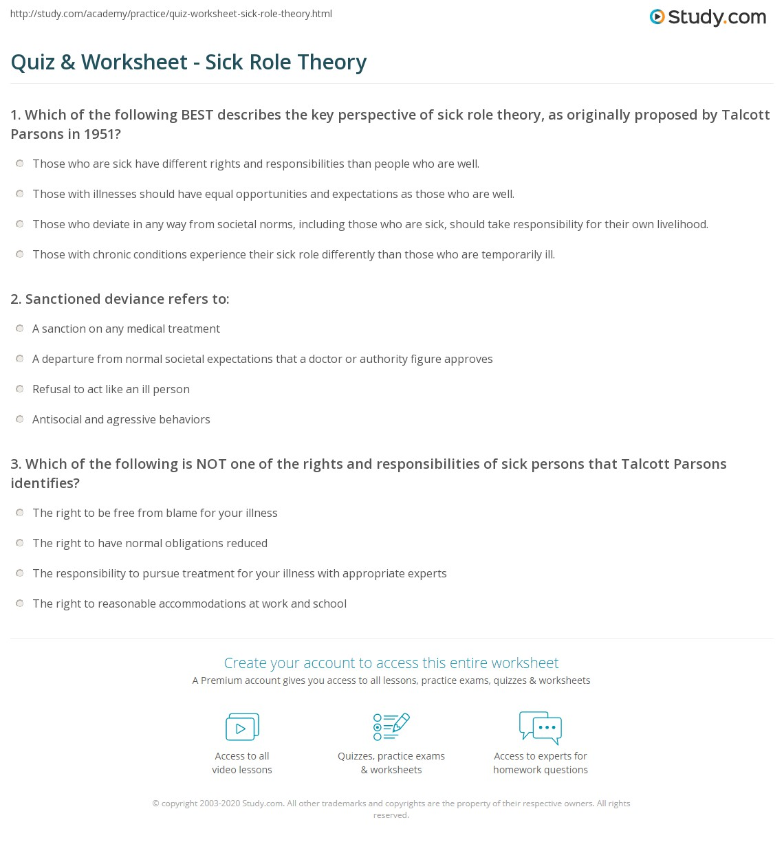 Role Theory Sociology Role Theory 01 18