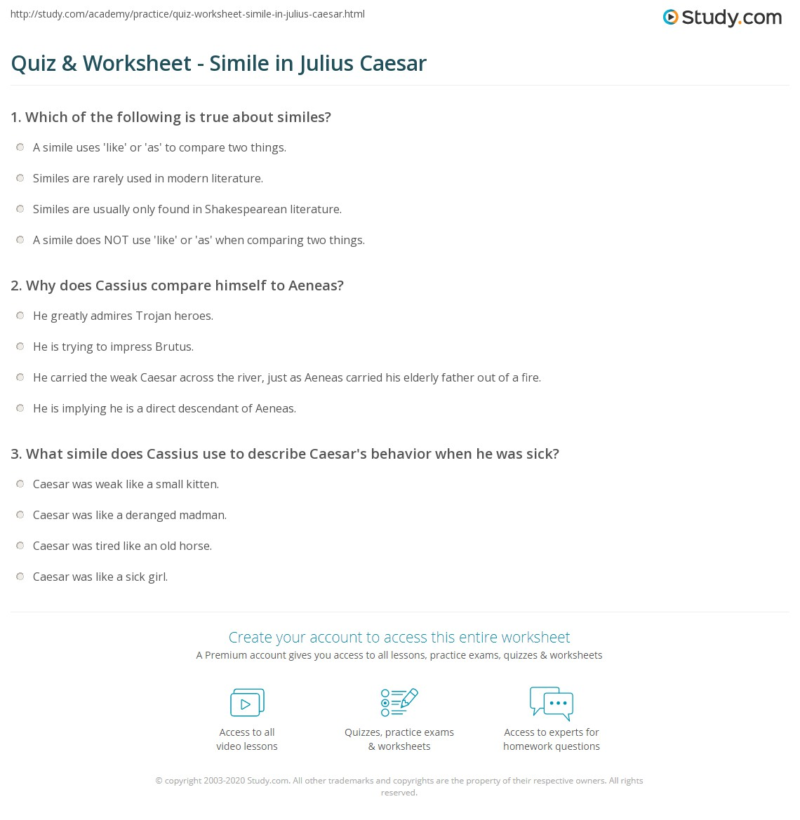 Julius Caesar Tragic Hero Worksheet