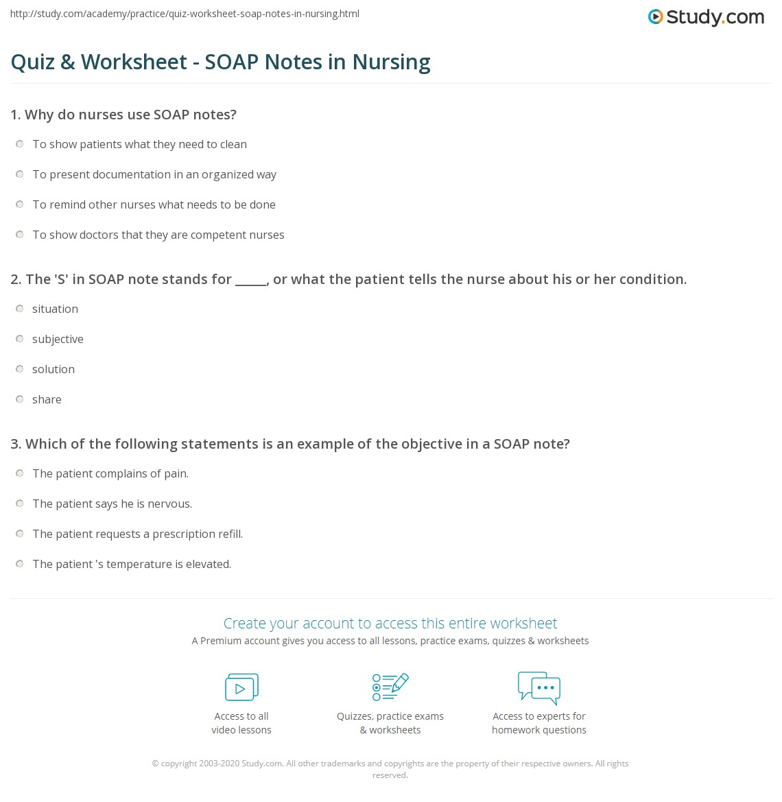 Nursing Worksheet To Print