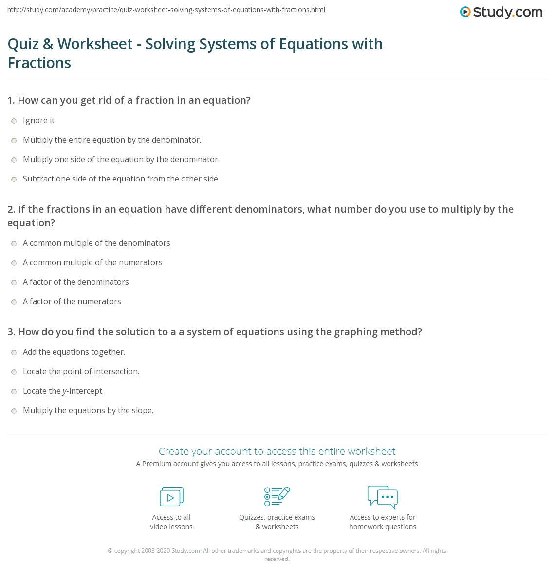 Equations With Fractions Worksheet Tes