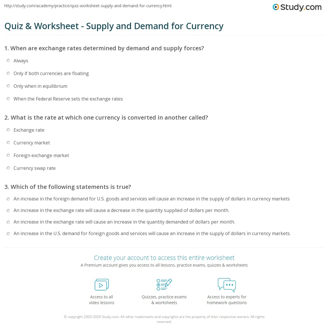 Worksheets Supply And Demand Worksheet Cheatslist Free