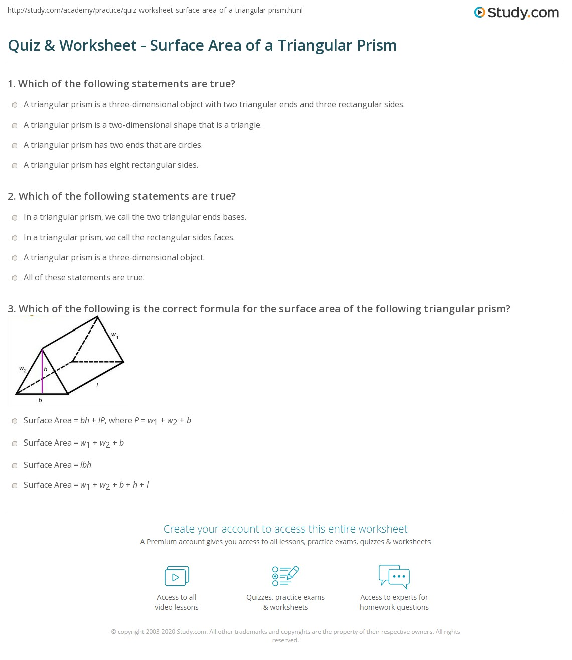 31 Surface Area Of A Triangular Prism Worksheet