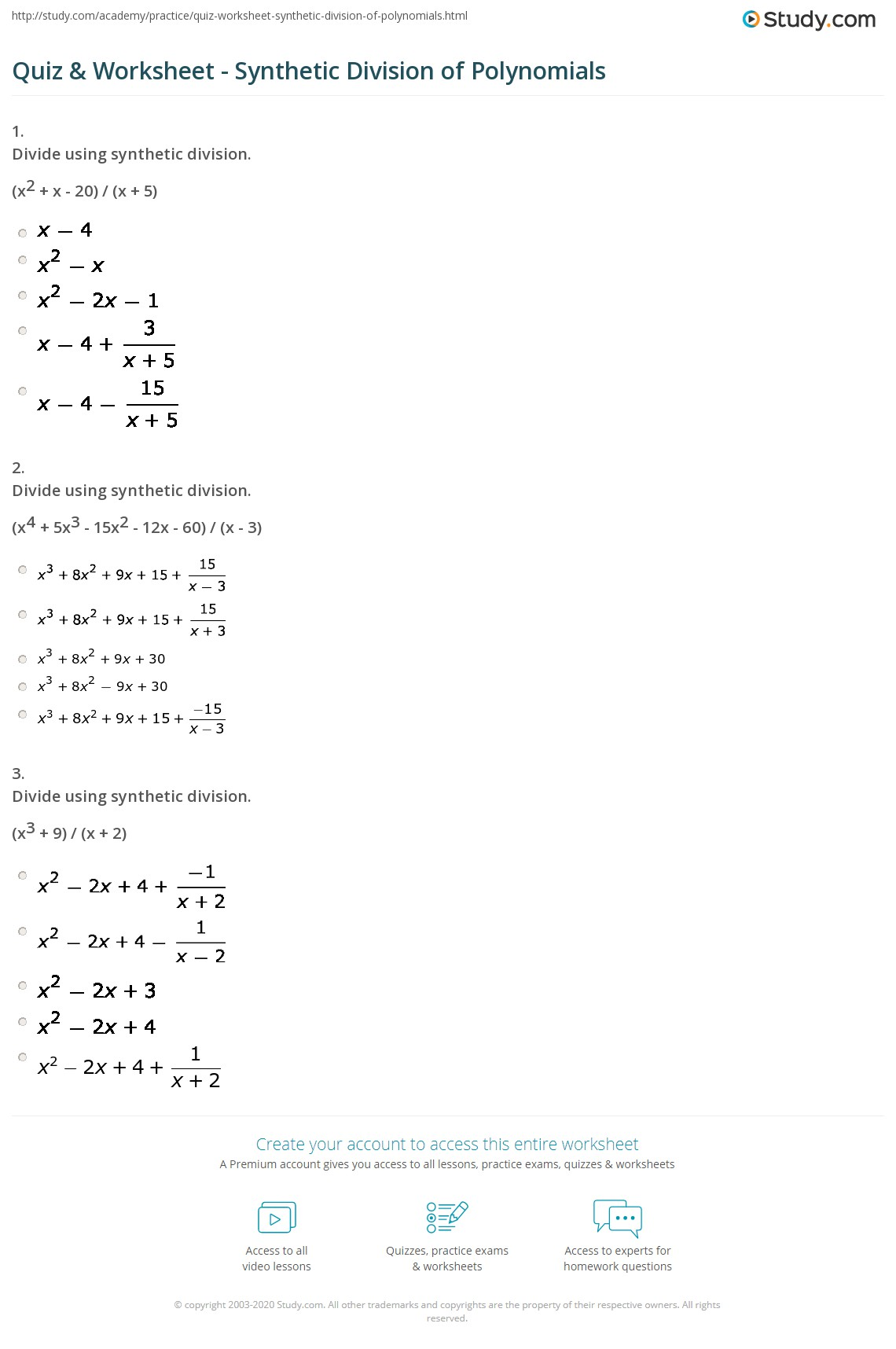 Polynomial Long Division Common Core Algebra Ii Homework