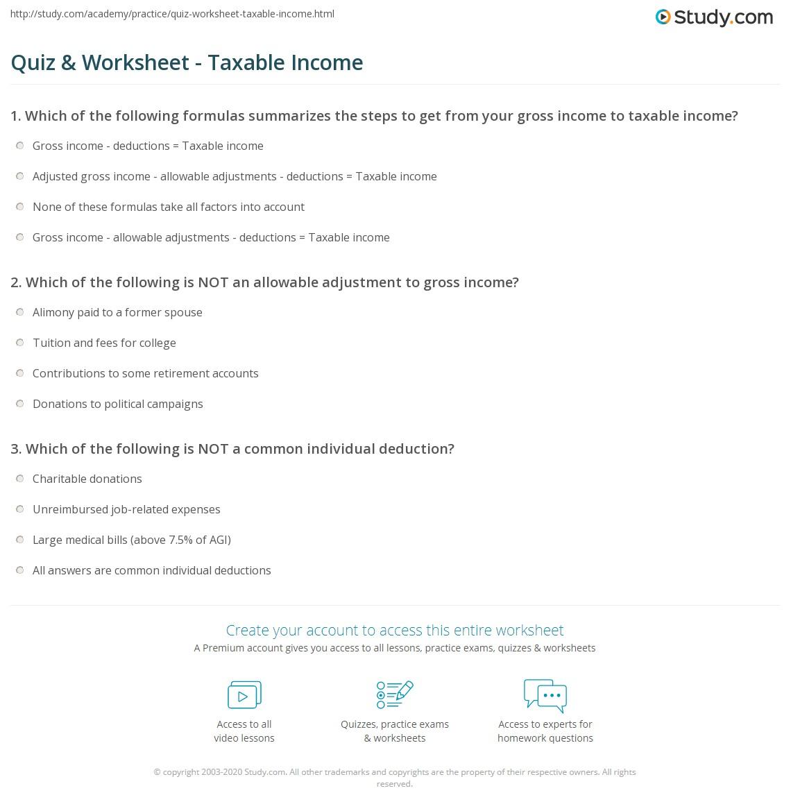 Quiz W Ksheet T X Ble E Study