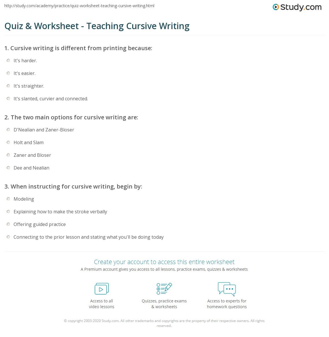 Create D Nealian Worksheet