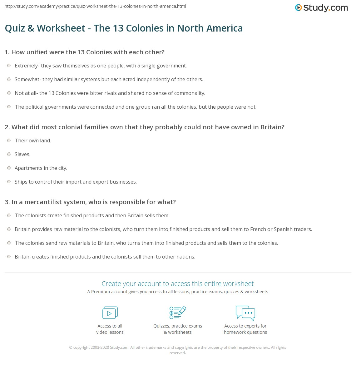 Worksheet 13 Colonies Worksheets Grass Fedjp Worksheet