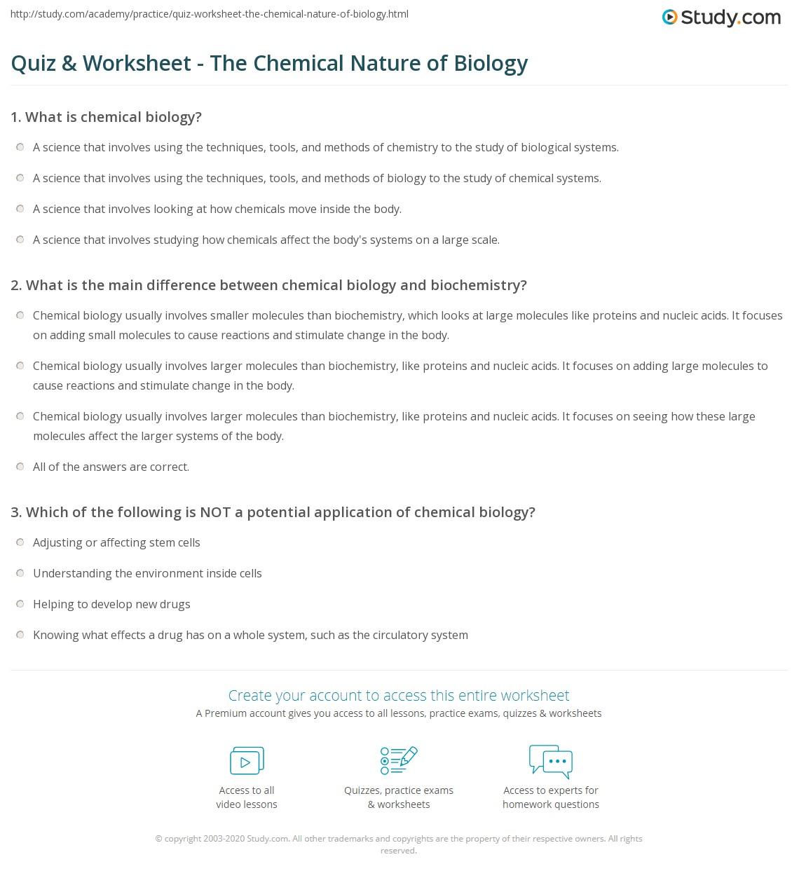 Applying Scientific Methods In Chemistry Worksheet