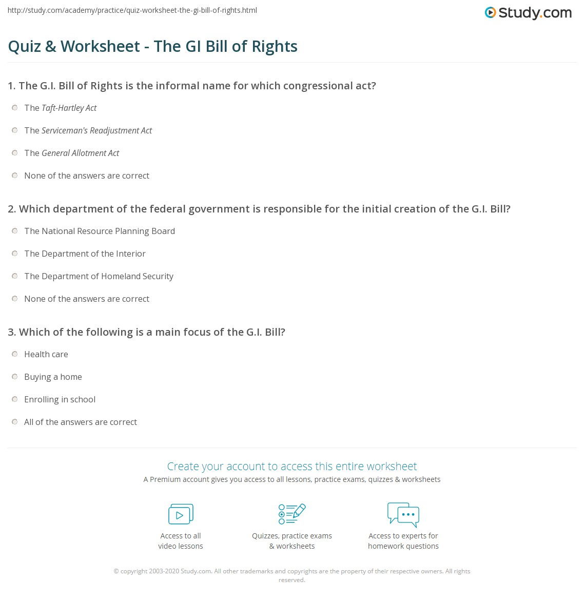 Worksheets Bill Of Rights Worksheets Waytoohuman Free
