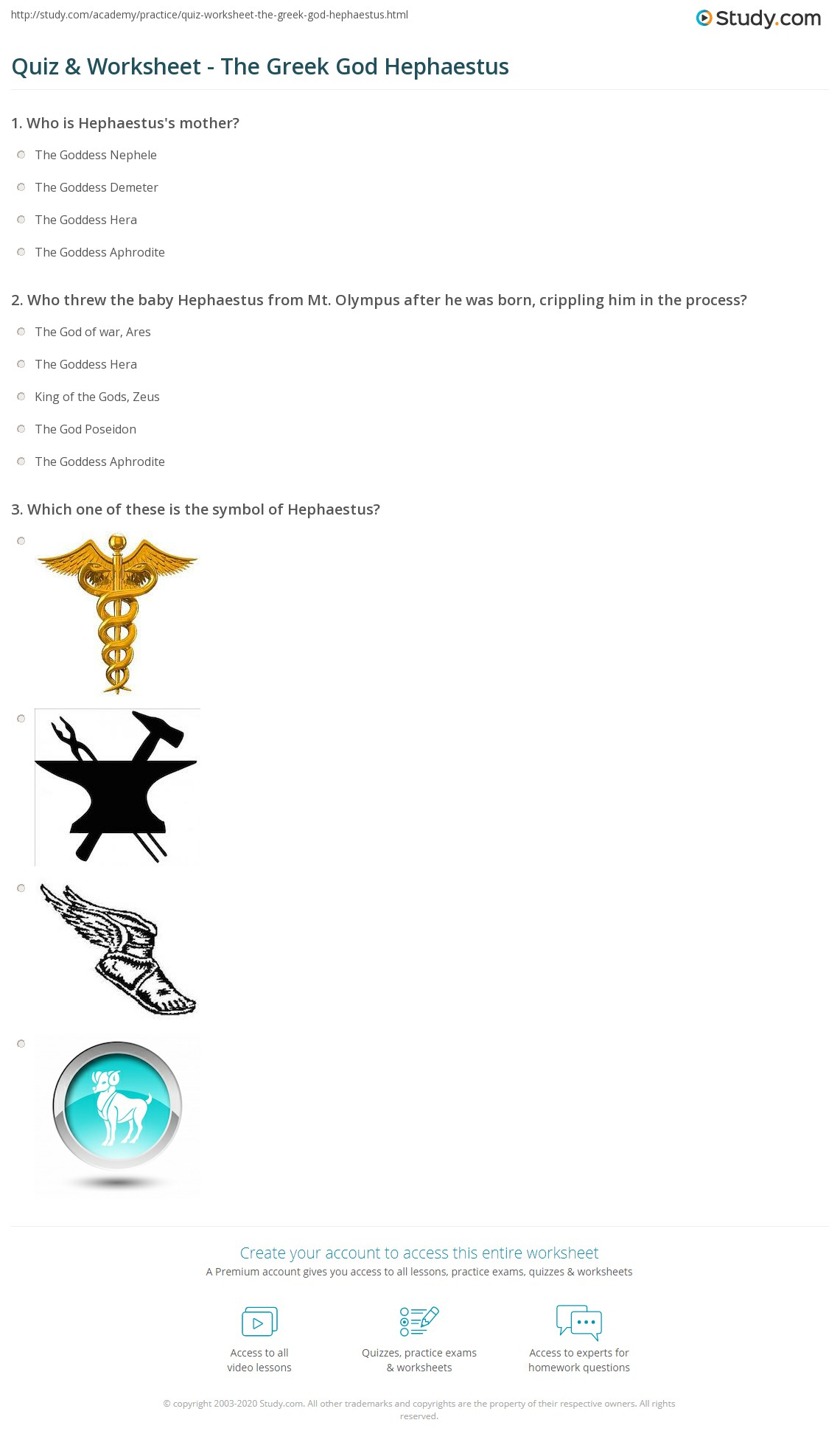 Greek Mythology Worksheet 19