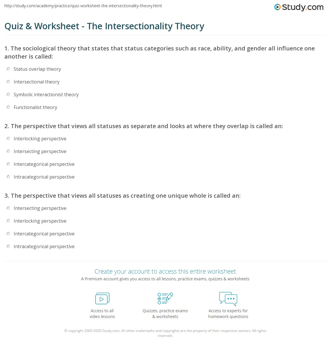 Essay On Intersectionality