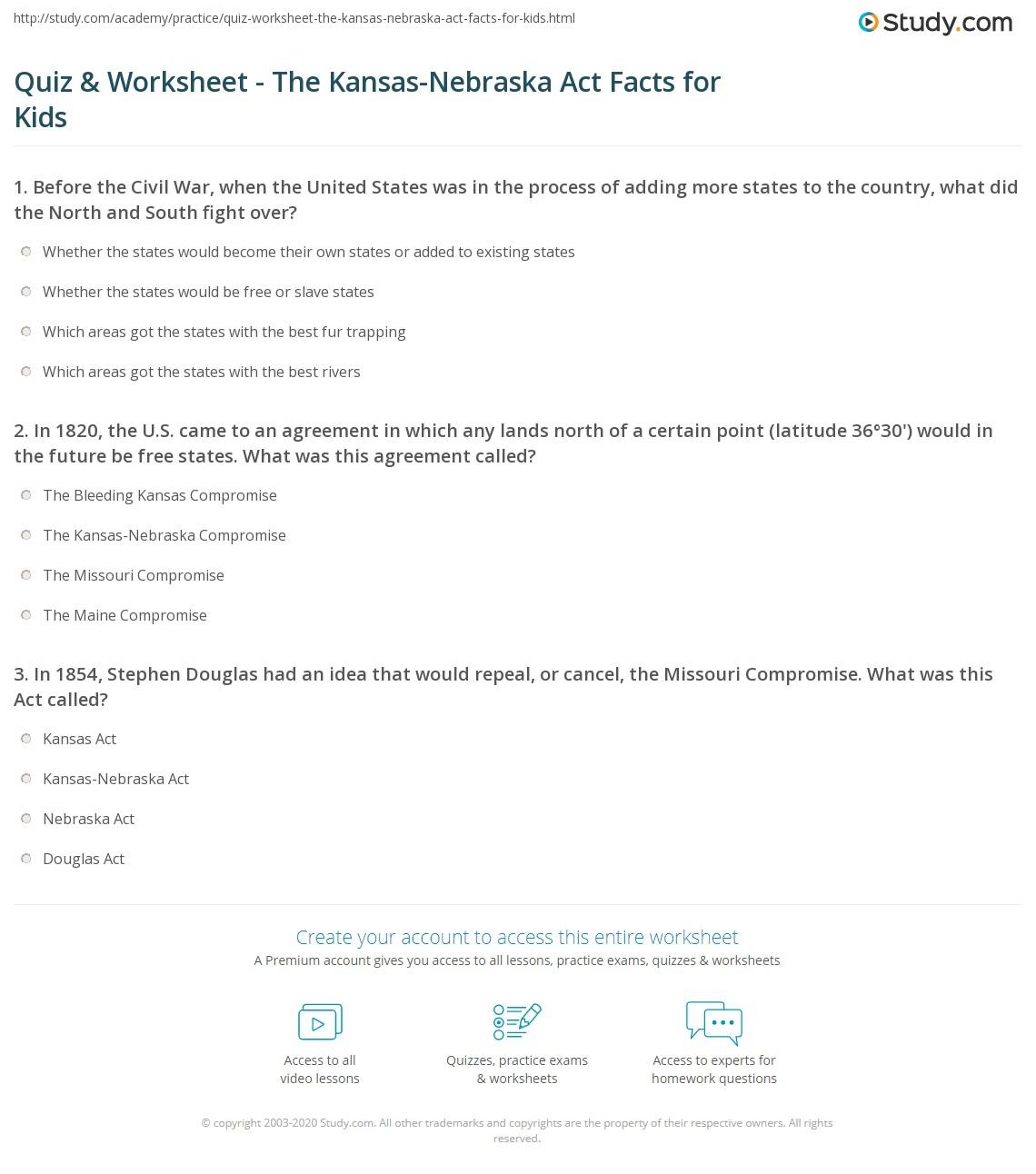 Free Kansas Worksheets