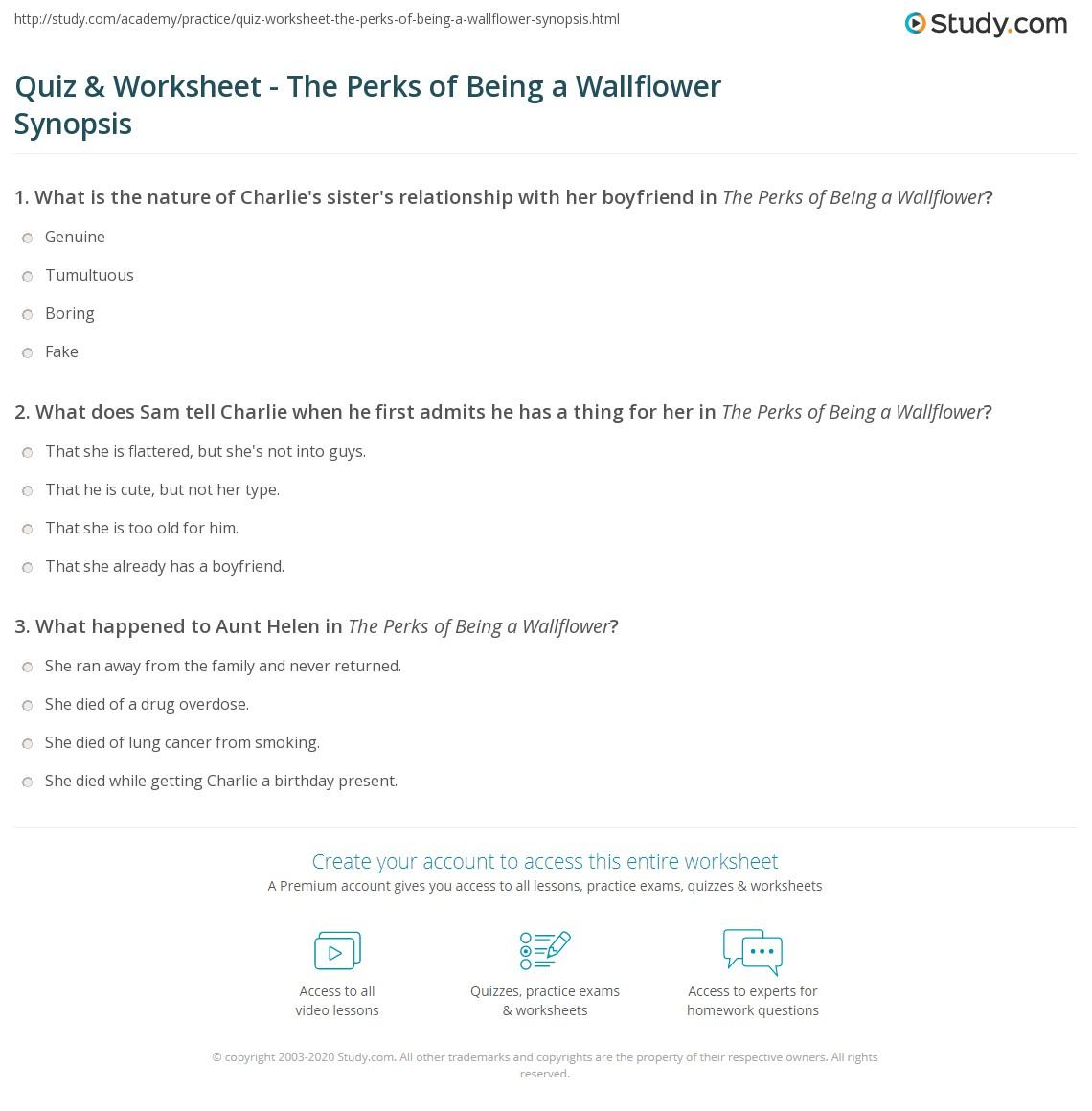 Perks Of Being A Wallflower Plot