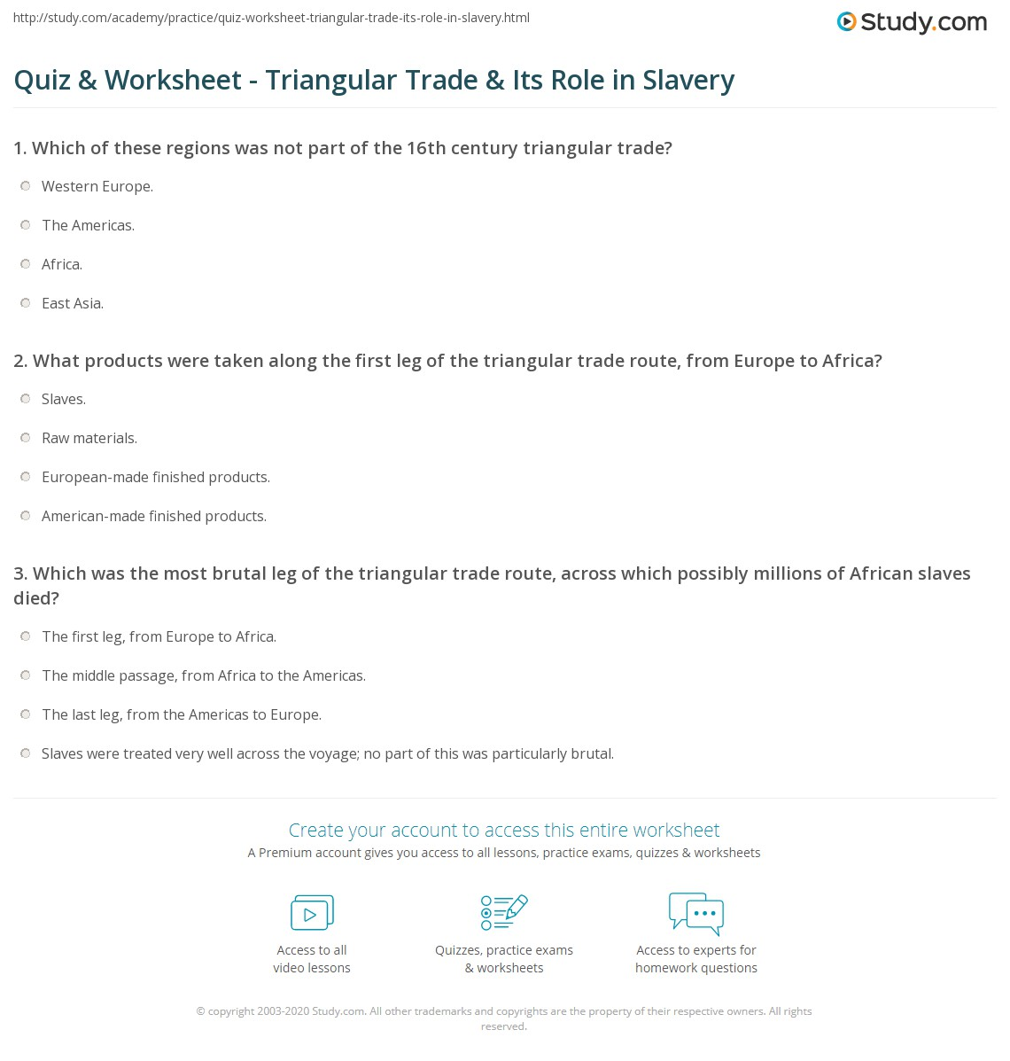 Worksheet Triangular Trade Worksheet Worksheet Fun