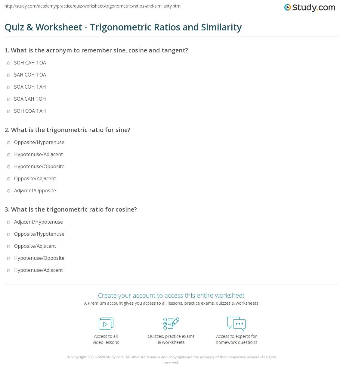 Printables Trig Ratios Worksheet Messygracebook