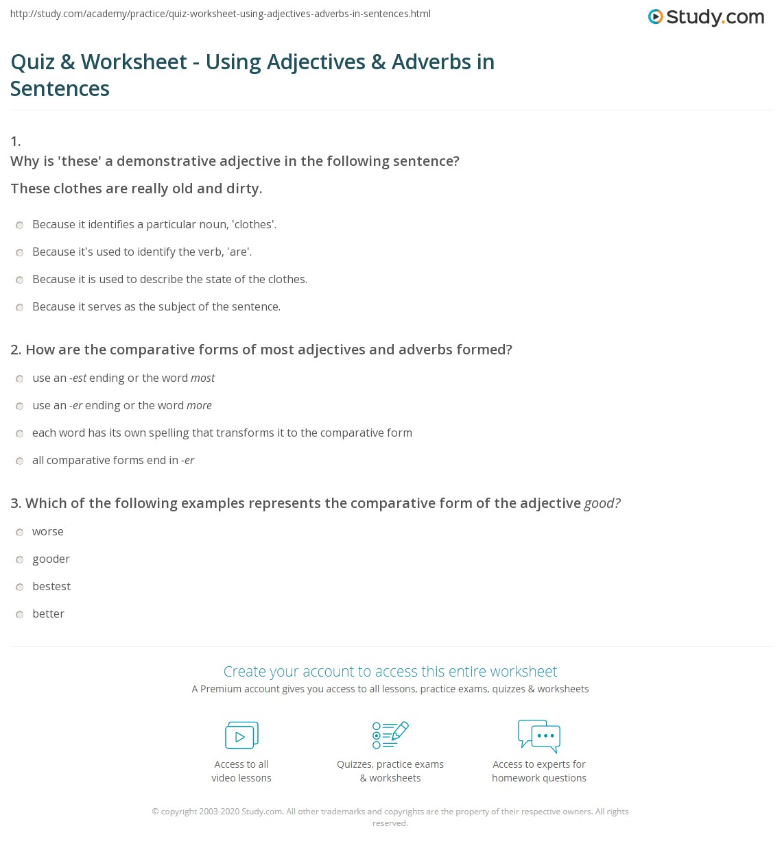 Worksheets Adjectives And Adverbs Worksheet Cheatslist