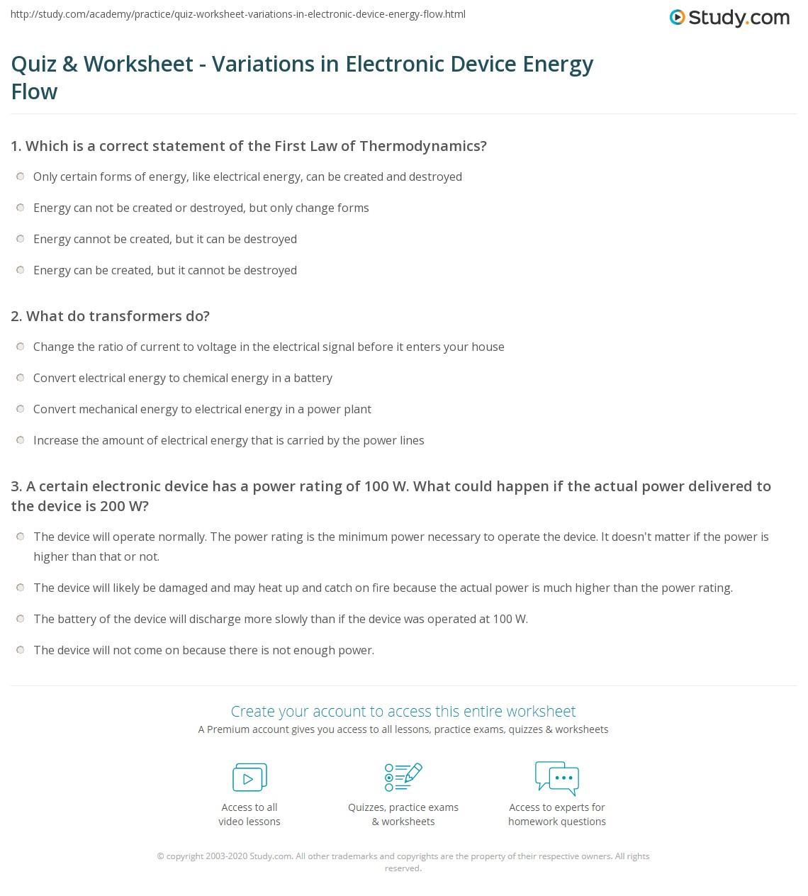 Electrical Transformer Worksheet