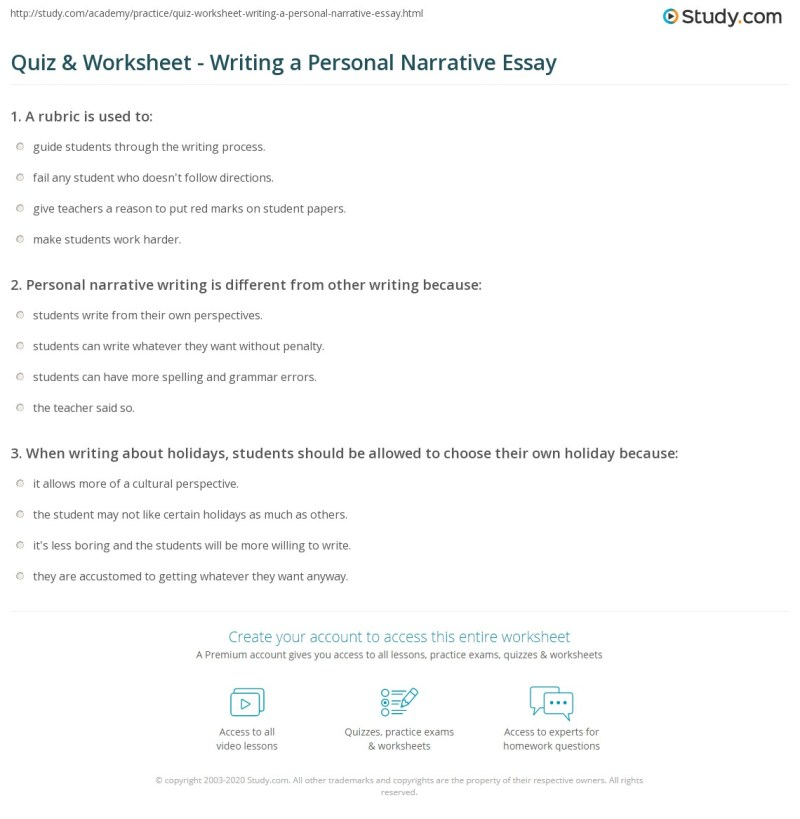 Essay Narrative