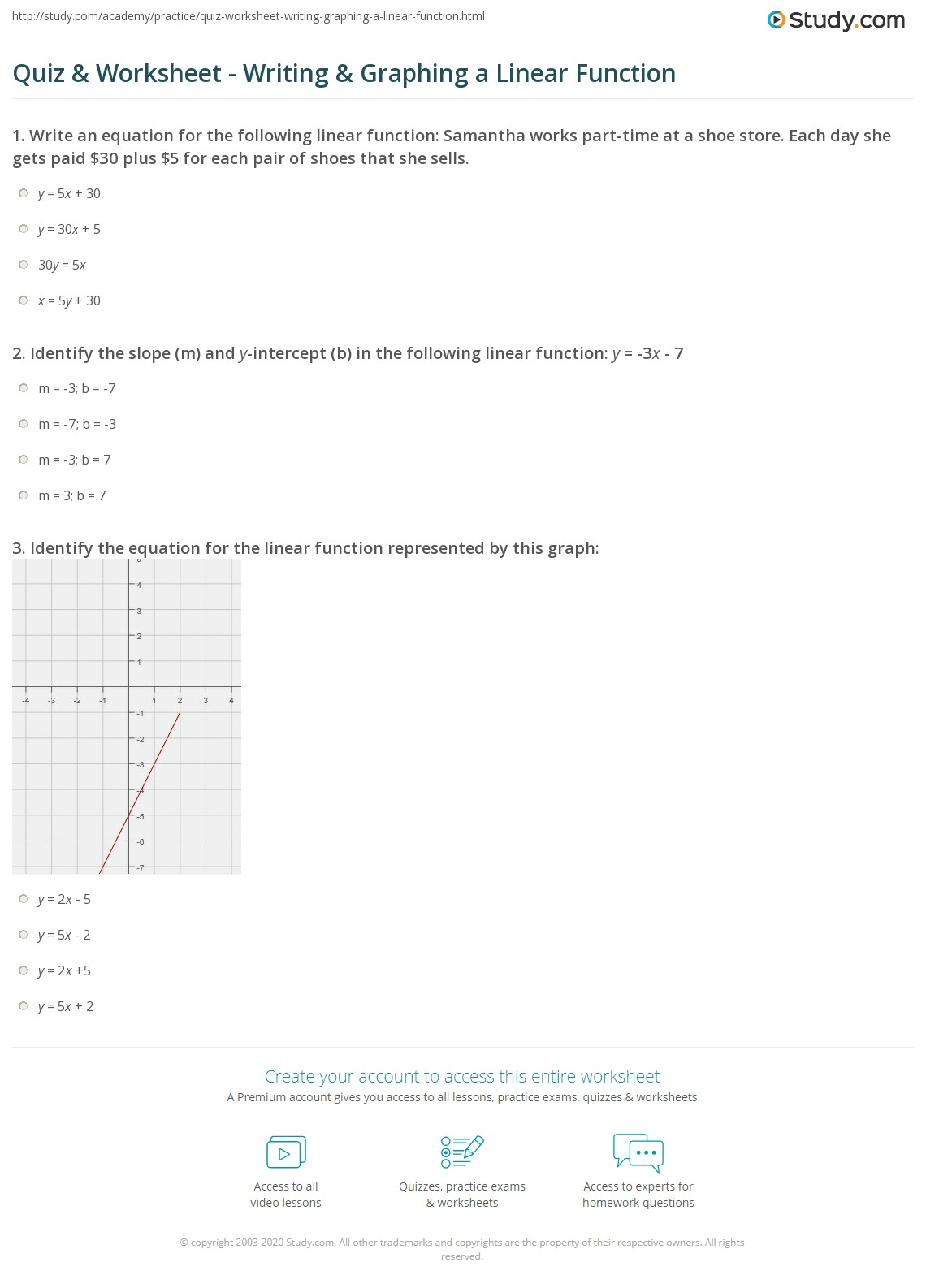 28 Linear Relations And Functions Worksheet