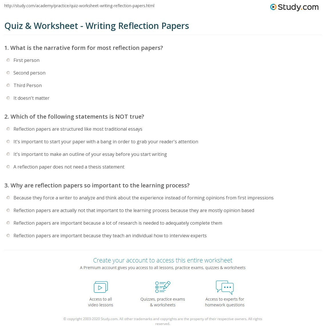 Quiz On Writing A Research Paper