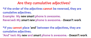 Cumulative Adjectives Definition Order Amp Examples
