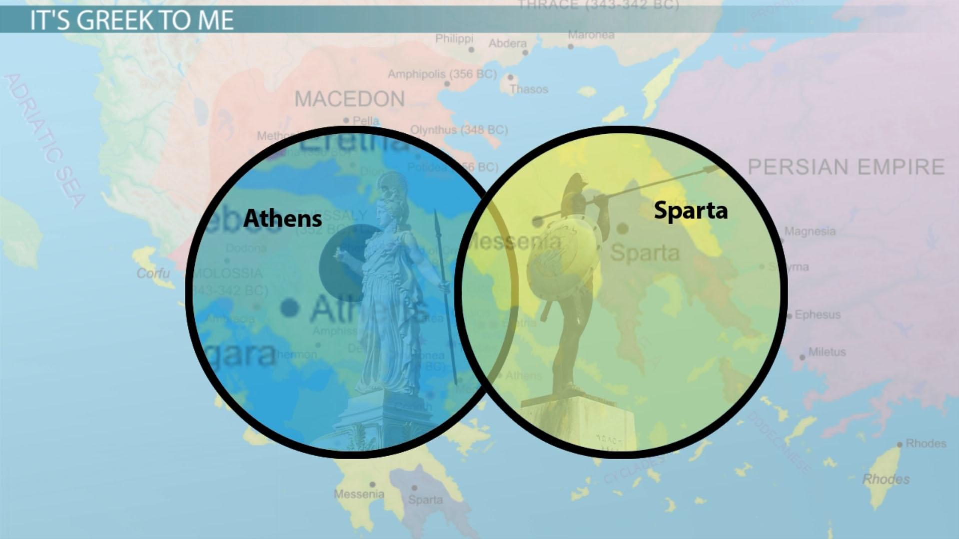 Life In Athens Vs Life In Sparta