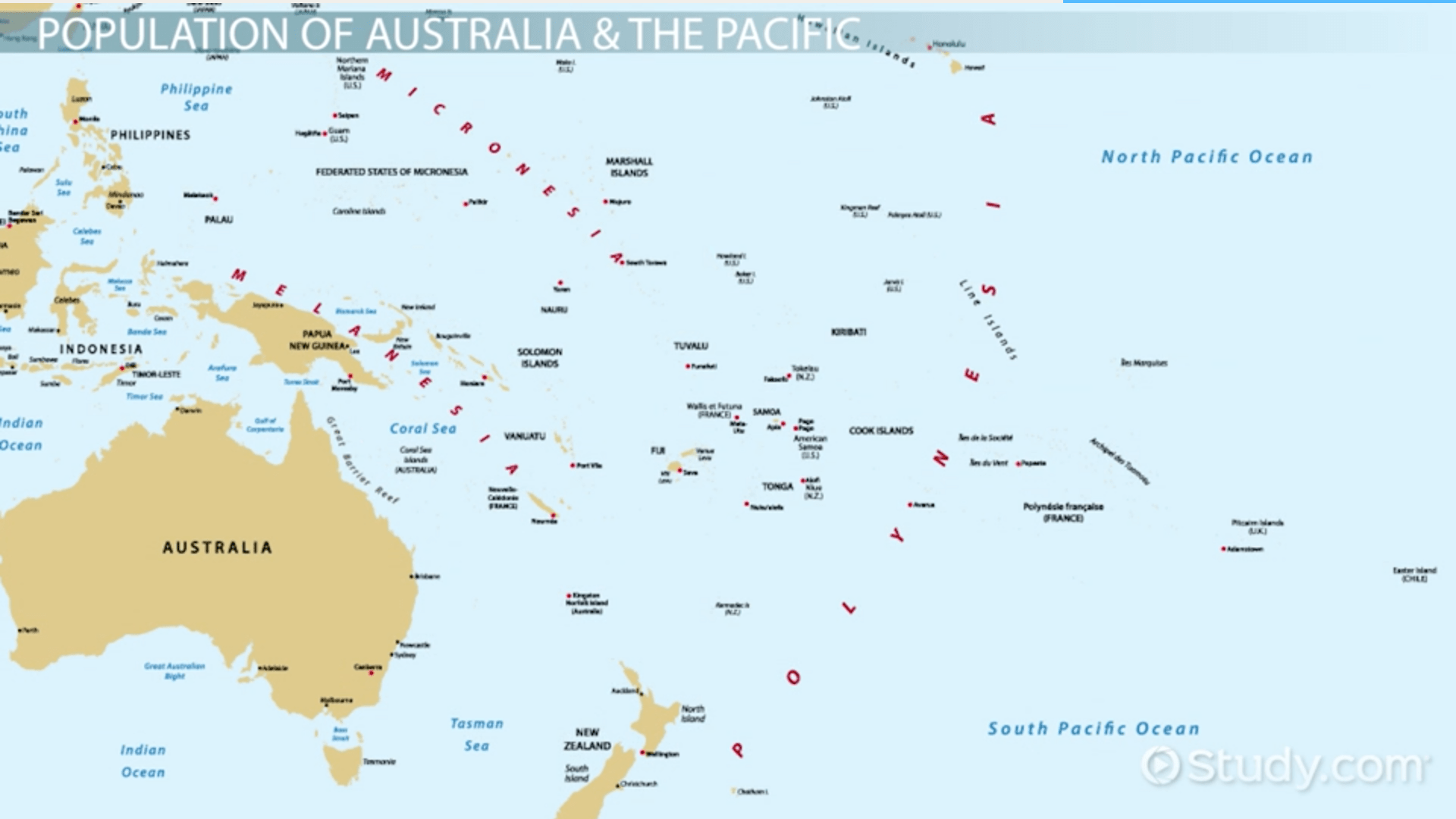 Demographics Of Australia Amp The Pacific Islands