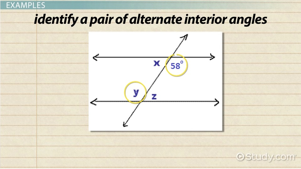 Alternate Interior Angles Meaning