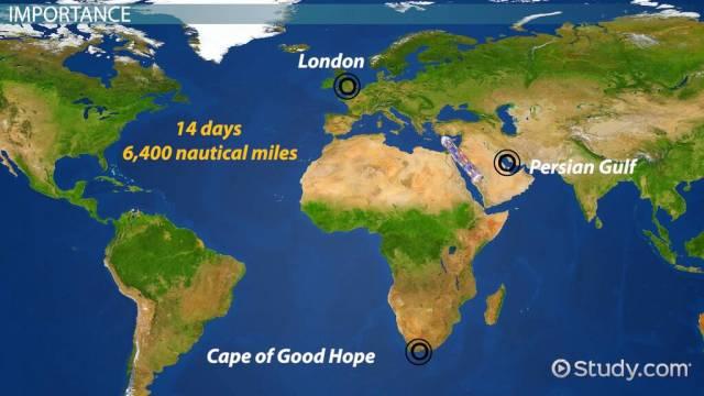 The Suez Canal: History, Location & Importance - Video & Lesson Transcript  | Study.com