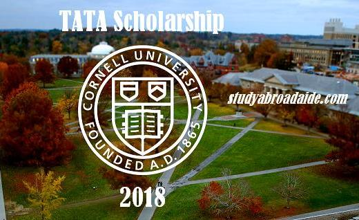 TATA Scholarship for Cornell university 2018