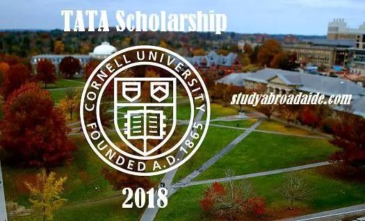 TATA Scholarship for Cornell university 2018