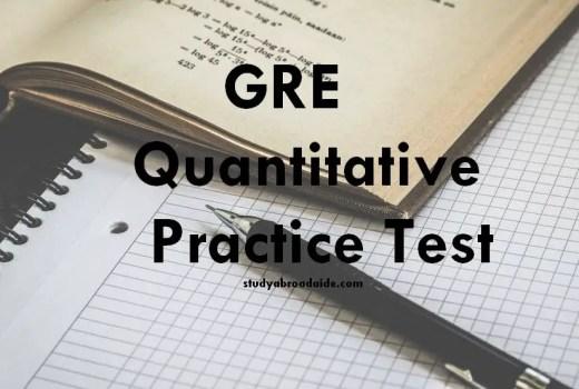 GRE Quantitative Practice Test