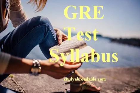 GRE Test Syllabus 2017
