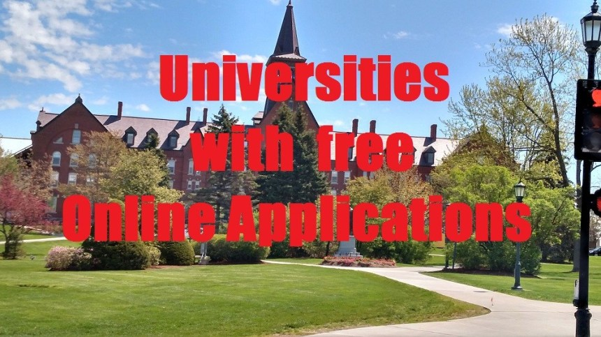 Universities With Free Online Applications