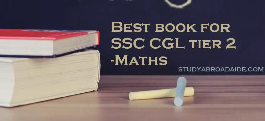 Best book for SSC CGL tier 2 Maths