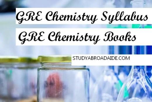 GRE Chemistry Books