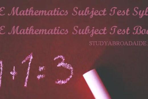 GRE Mathematics Subject Test Books