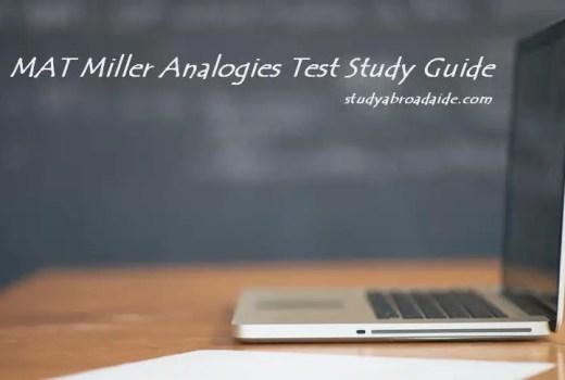 MAT Miller Analogies Test Study Guide