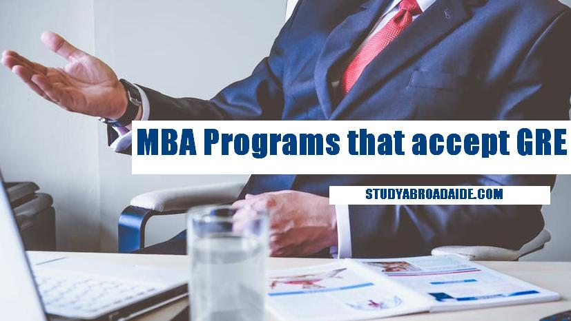 MBA Programs that accept GRE