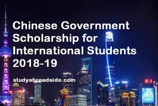 Chinese Government Scholarship for International Students 2018-19