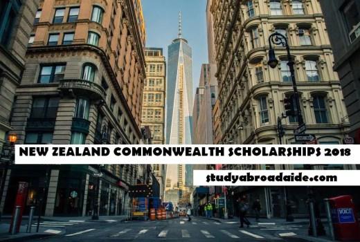NEW ZEALAND COMMONWEALTH SCHOLARSHIPS 2018