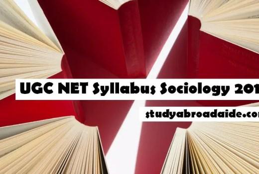 UGC NET Syllabus Sociology 2018