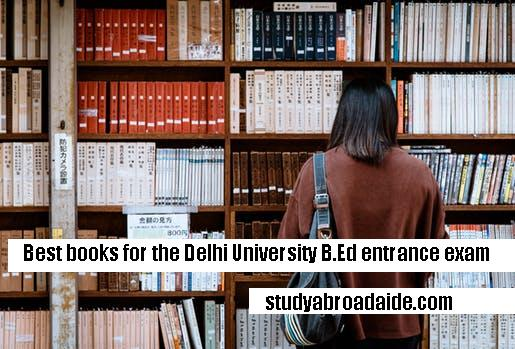 Best books for the Delhi University B.Ed entrance exam