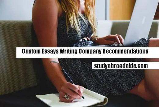 Custom Essays Writing Company Recommendations