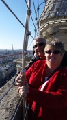 Mom and Dad on top of Notre Dame