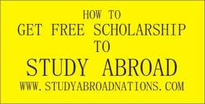 free scholarship to study abroad