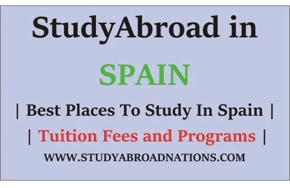 Study Abroad In Spain , study programs in spain , study places in spain