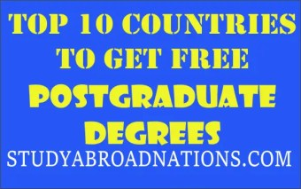 countries with free postgraduate degree