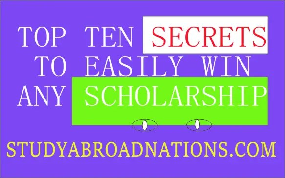 Secrets to get scholarships