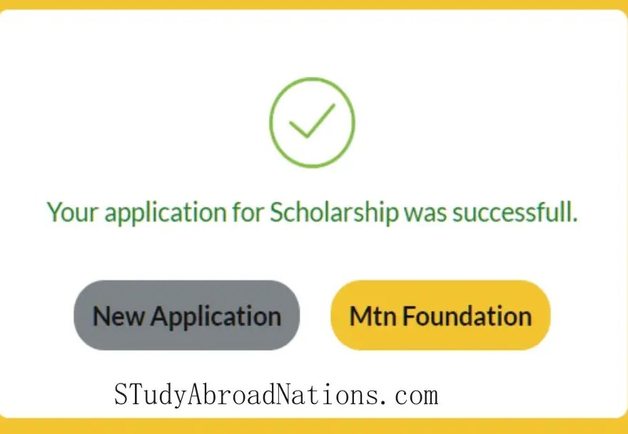 mtn scholarship application success page